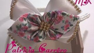 getlinkyoutube.com-Laço de fita floral vintage MK