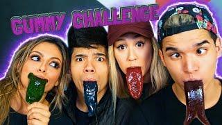 getlinkyoutube.com-GUMMY TONGUE CHALLENGE! ft. LaurDIY D-Trix & Bethany Mota