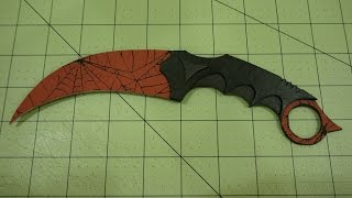 getlinkyoutube.com-How to Make Paper CS:GO Karambit