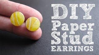 getlinkyoutube.com-DIY Paper Stud Earrings - Cute & Colorful Upcycled Jewelry Tutorial