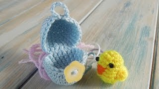 getlinkyoutube.com-(crochet - part 1 of 2) How To Crochet a Mini Chick & Egg - Yarn Scrap Friday