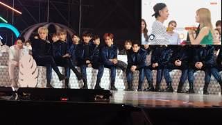 getlinkyoutube.com-161119 EXO and Seventeen react to Netizen Choice award VCR @ Melon Music Award