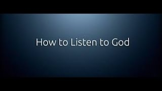 How To Hear The Voice of God Almighty - Jesus Christ - Listen To The Holy Spirit width=