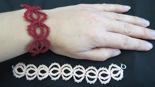 getlinkyoutube.com-Needle Tatting Bracelet