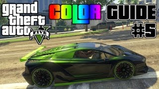 GTA V - Ultimate Color Guide #5 | Best Colors Combos for Zentorno