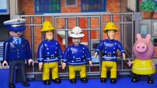 getlinkyoutube.com-Fireman sam episode Feuerwehrmann Sam Locked in Prison Peppa pig Rescue Story
