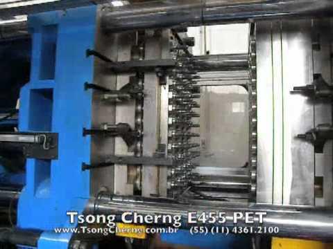 Tsong Cherng E455 PET máquina injetora de plástico