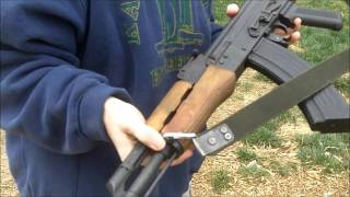 getlinkyoutube.com-Denix AK-47 non-firing replica rifle- full wood stock
