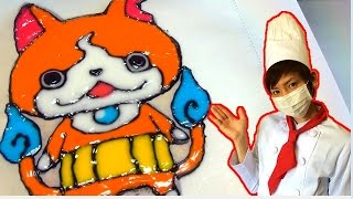 getlinkyoutube.com-【アイシング】ジバニャンクッキー作ってみた!【赤髪のとも】Icing is challenged.