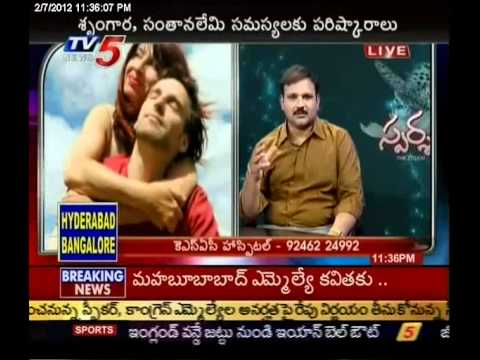 TV5 - Sparsha vatsayana Mantra answers to sex problems 07-02-2012 Part - 1