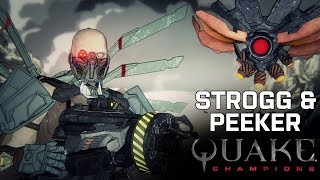 Quake Champions - Strogg & Peeker Sztori Trailer