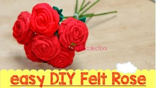 getlinkyoutube.com-Easy DIY Felt Rose tutorial - tutorial membuat mawar dari flanel