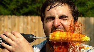 getlinkyoutube.com-Corn Drill in Slow Motion - The Slow Mo Guys