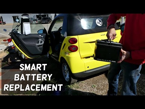 SMART FOR TWO BATTERY REPLACEMENT REMOVAL 2008 - 2014