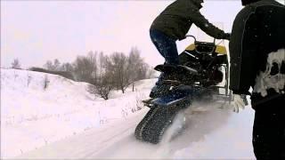 getlinkyoutube.com-На самодельных снегоходах вокруг деревни