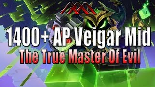 getlinkyoutube.com-1400+ AP Veigar Mid - Most Evil Champion - League of Legends