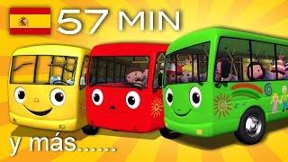 getlinkyoutube.com-Las ruedas del autobús | Y muchas más canciones infantiles | ¡57 min de LittleBabyBum!
