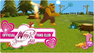 Winx Club PC Game - 2. Bloom protects Stella from Nut