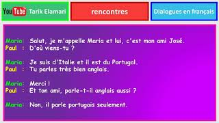 Dialogue en français Niveau A1 26 french dialogue rencontres