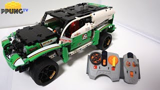 getlinkyoutube.com-LEGO Technic 42039 RC B model SUV Racer - RC review by 뿡대디