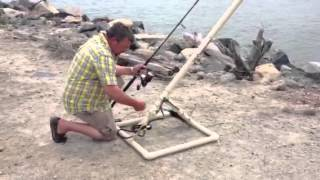 Jetty fishing with a bait launcher