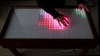 getlinkyoutube.com-Interactive Led Table with Proximity Detection