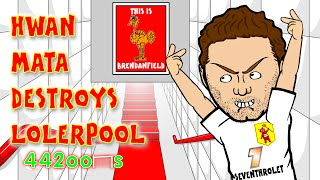 getlinkyoutube.com-Steven Gerrard Red Card/Stamp BY JUAN MATA🐓Liverpool vs Man Utd👹 1-2 22.3.15 Mata Song Cartoon