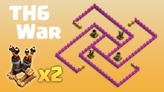 getlinkyoutube.com-TH6 War Base - 2 Air Defenses - Anti Everything - 2016 update - Clash of Clans