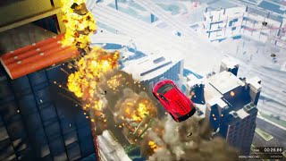 getlinkyoutube.com-GTA 5 Fast and Furious 7 Building Jump Epic Stunt Race