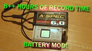 getlinkyoutube.com-External Battery Mod for Sony Action Cams (AS200V) 8 + hours of record time