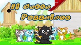 getlinkyoutube.com-IL GATTO PUZZOLONE - Canzoni per bambini e bimbi piccoli