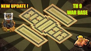 getlinkyoutube.com-TH9 (TOWN HALL 9) ANTI 3 STAR WAR BASE WITH BOMB TOWER || NEW OCTOBER UPDATE 16 || Clash of Clans ✓