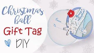 getlinkyoutube.com-Tuto: Tag Chiudipacco paesaggio di neve - ENG SUBS Christmas Gift Tag DIY