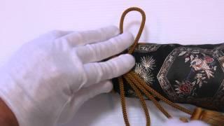 房紐の結び方 日本刀の拵袋編 how to tie a husahimo