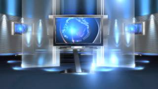 getlinkyoutube.com-free virtual news studio background virtual set blue long HD