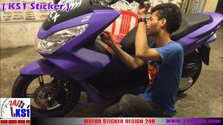 getlinkyoutube.com-Honda PCX 150 Modified sticker new color