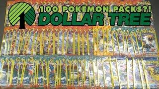 getlinkyoutube.com-OPENING 100 PACKS OF DOLLAR TREE POKEMON CARDS!!