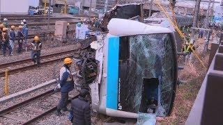 京浜東北線 現場区間で運休 川崎 回送電車が脱線横転