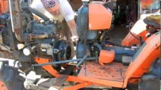 getlinkyoutube.com-Kubota B7200D Clutch Throw-out Bearing Change