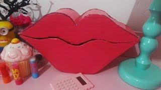 getlinkyoutube.com-DIY- Porta Jóias em forma de boca! (Sem gastar nada $)