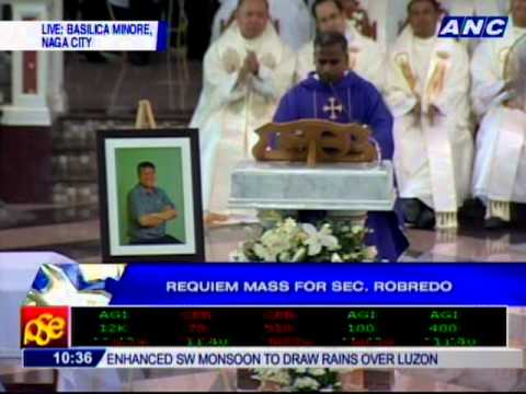 Homily for Robredo's requiem mass by Fr. Kulandairaj Ambrose of Missionaries of the Poor