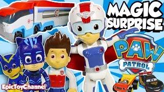 getlinkyoutube.com-PAW PATROL Magic Surprise Paw Patroller, NEW Air Rescue Ryder Disney Cars Toys & PJ Masks ToysReview