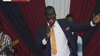 Pastor Frint live on Stage At The Healing Word Ministries