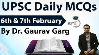 (English) UPSC Daily MCQs on Current Affairs - 6th + 7th February 2018 -  UPSC CSE/ IAS Preparation