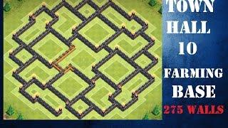 getlinkyoutube.com-TH 10 (Town Hall 10) Farming Base - 275 walls - Clash of Clans