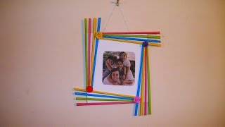 getlinkyoutube.com-DIY Easy Photo Frame (Birthday gift idea / Room decoration) Made with Colorful Paper