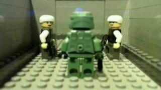 getlinkyoutube.com-Lego Halo: Master Chief vs. Crows Nest Marines