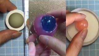 getlinkyoutube.com-おゆまるでおゆまるの型取り出来るのか実験&UVレジン用の半球型をいろんな物で作成♪