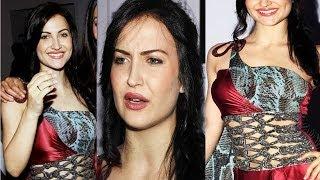 getlinkyoutube.com-Hot Babe Elli Avram Sexy Cute Look In Red Dress