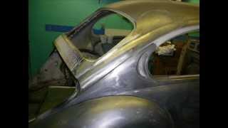getlinkyoutube.com-1972 VW Beetle Restoration - Rear Quarter Rust Repair